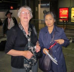 Fiona and Duong Thu Huong in Paris Metro