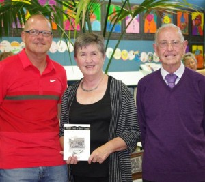 Gary Punler – Principal West End School, Val Mills – author, Barry Slade, Val's 1958 teacher.